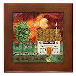 Sunset Cottage Framed Tile
