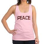 peace_letters02.png Racerback Tank Top