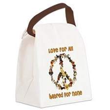 peacedogs01a.png Canvas Lunch Bag