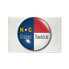 Outer Banks North Carolina Flag Rectangle Magnet (