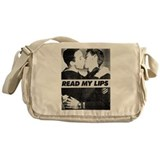 Read My Lips Vintage Photo Boys Kissing Messenger