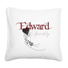 Sparkly Edward Square Canvas Pillow