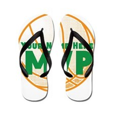Personalized Basketball MVP. Flip Flops