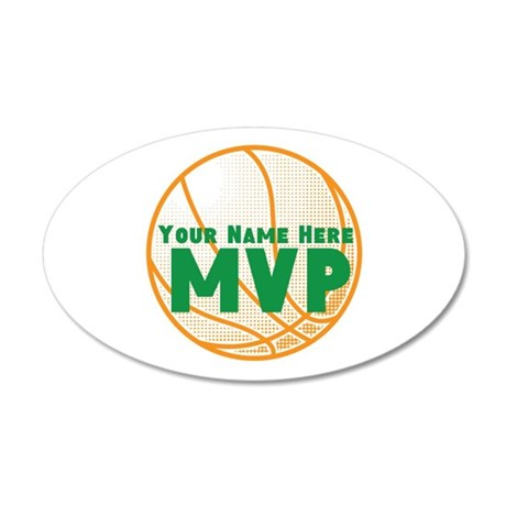Personalized Basketball MVP. 35x21 Oval Wall Decal