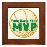 Mvp basketball Framed Tiles
