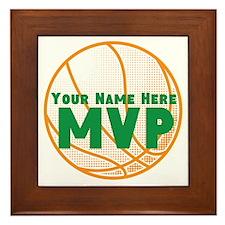 Personalized Basketball MVP. Framed Tile
