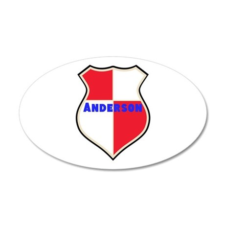 Personalized shield 35x21 Oval Wall Decal
