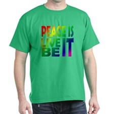 """Peace Is"" Rainbow Tee in 7 colors"