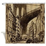 Pennell Joseph Brooklyn Bridge Shower Curtain