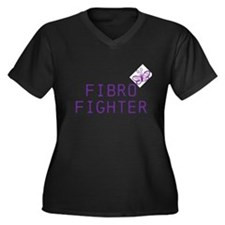 Unique Fibro Women's Plus Size V-Neck Dark T-Shirt