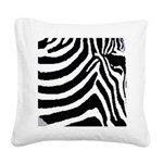 zebra print Square Canvas Pillow