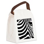 zebra print Canvas Lunch Bag