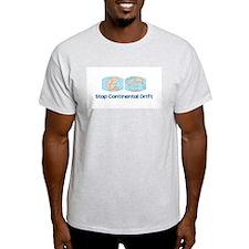 Stop Continental Drift Ash Grey T-Shirt