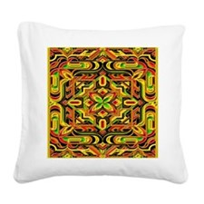 Colorful Mazes Square Canvas Pillow