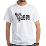 Forks Be With You White T-Shirt