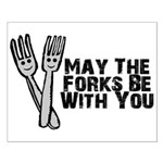 Forks Be With You Small Poster