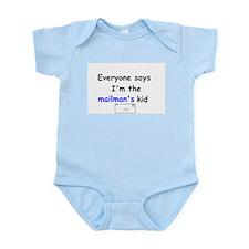 MAILMAN'S KID FUNNY Infant Onesie Creeper Bodysuit