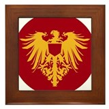 Medieval Griffon Dragon Flight Framed Tile