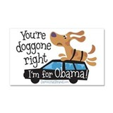 Doggone Right Car Magnet 20 x 12