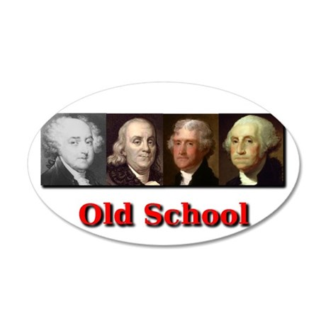 Old School 20x12 Oval Wall Decal