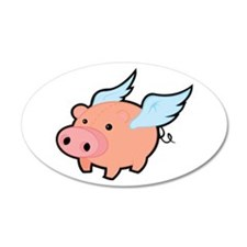 Flying Pig Wall Decal
