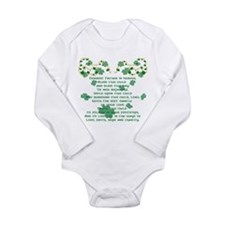 Irish Christening Prayer Long Sleeve Infant Bodysu