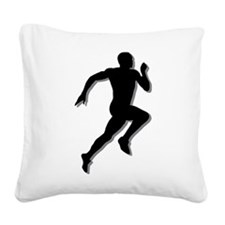 The Runner Square Canvas Pillow