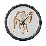 Stylized Camel Large Wall Clock