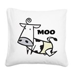 Moo Cow Square Canvas Pillow
