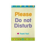 Do Not Disturb Rectangle Magnet (100 pack)