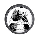 Hand Sketched Panda Wall Clock