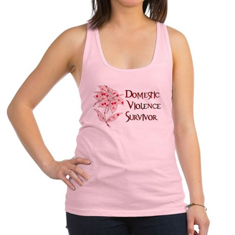 domestic_violencesurvivor01.png Racerback Tank Top