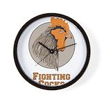 Fighting Cocks Wall Clock