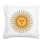 Sol de Mayo Square Canvas Pillow