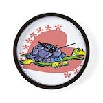 Heart Turtle Wall Clock