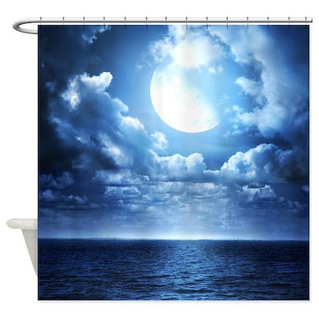 Blue Gifts > Blue Bathroom Décor > Night Ocean Shower Curtain