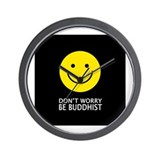 Don't Worry Be Buddhist Wall Clock