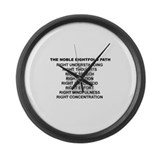 Noble Eightfold Path Large Wall Clock