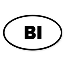 Bi Oval Decal