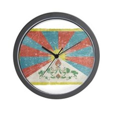 Vintage Tibet Flag Wall Clock