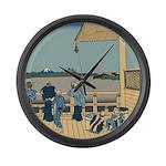 Hokusai Sazai Hall Large Wall Clock