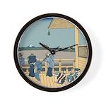 Hokusai Sazai Hall Wall Clock