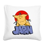 Japan Sumo Square Canvas Pillow