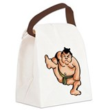 Sumo Wrestler Canvas Lunch Bag
