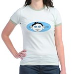 Blue In One Ear Jr. Ringer T-Shirt