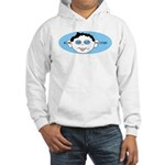Blue In One Ear Hooded Sweatshirt