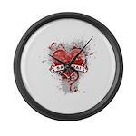Heart Samurai Large Wall Clock
