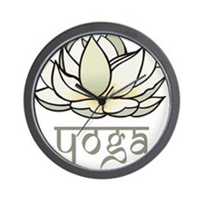 Lotus Yoga Wall Clock
