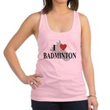 I Love Badminton Racerback Tank Top