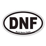 DNF Euro Oval Bumper Stickers